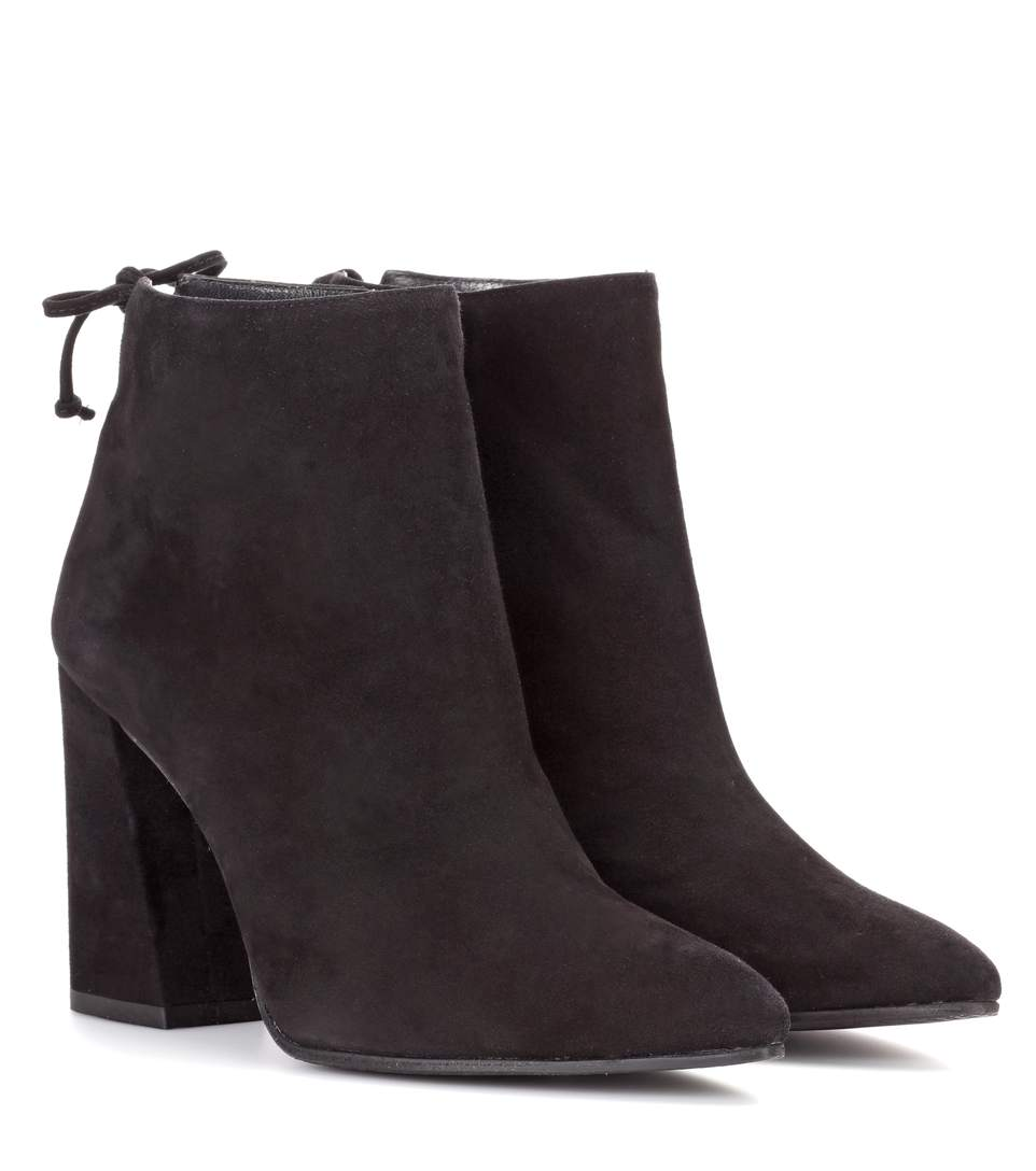 90Mm Grandiose Suede Ankle Boots, Black