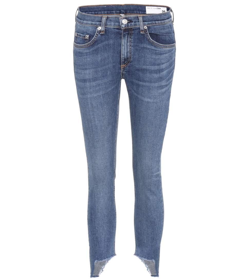 Capri Cropped Jeans, Blue
