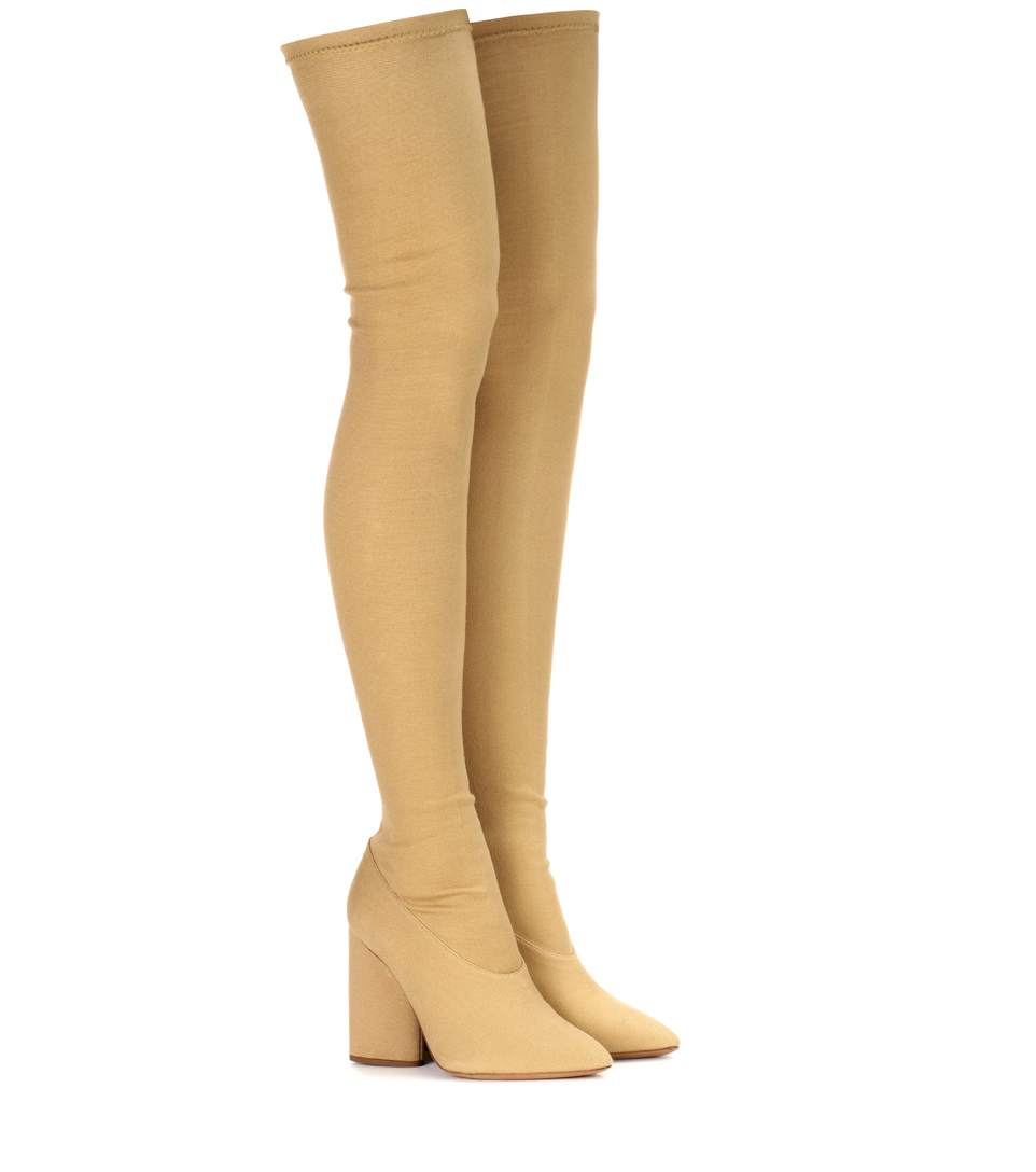 Over-The-Knee Stretch Boots (Season 4), Beige