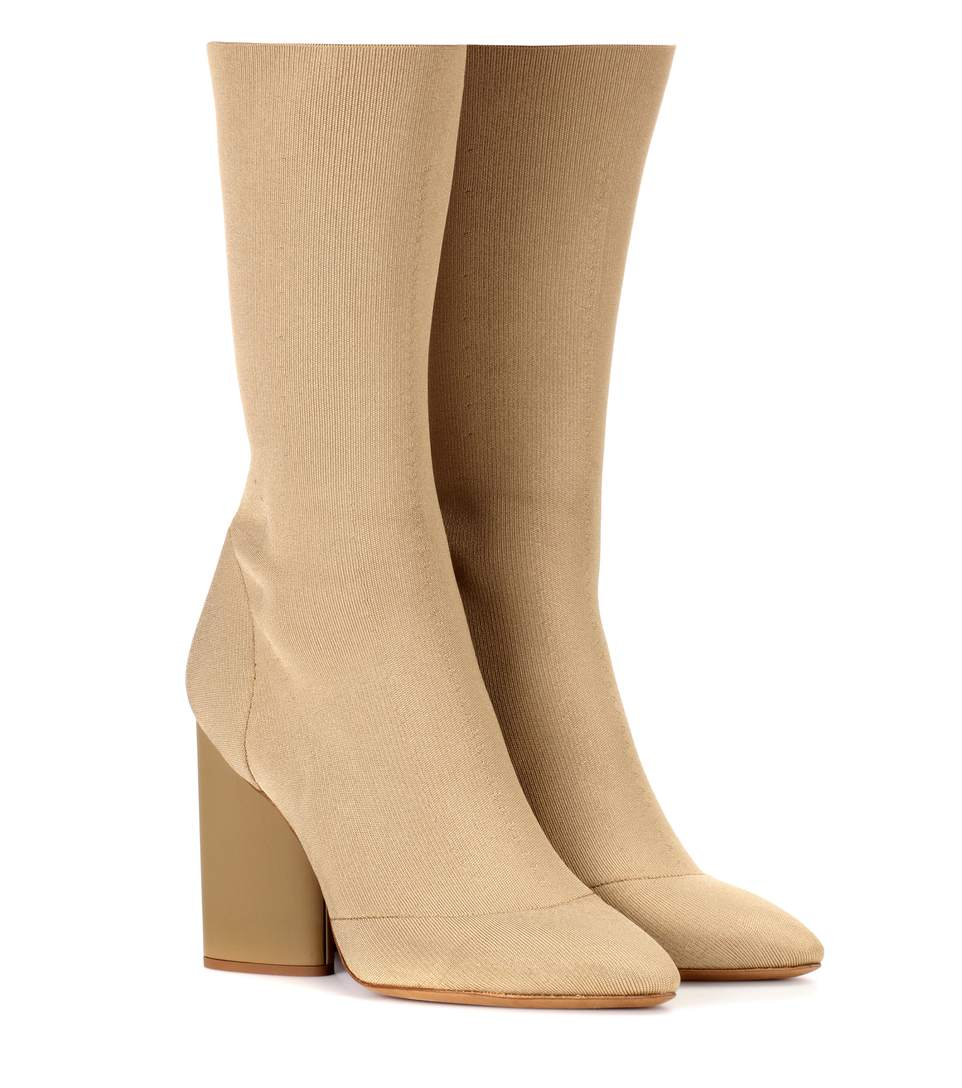 Nude Neutrals Dollar Canvas Ankle Boot, Beige