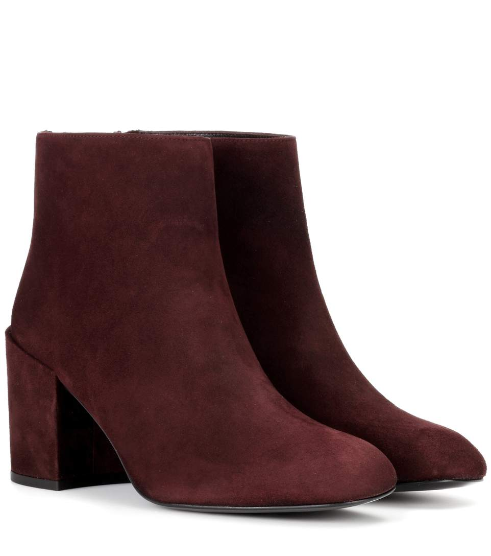 Bacari Suede Ankle Boots, Red