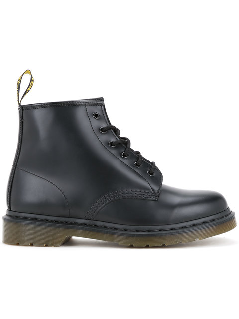 DR. MARTENS Lace Boots In Black Leather