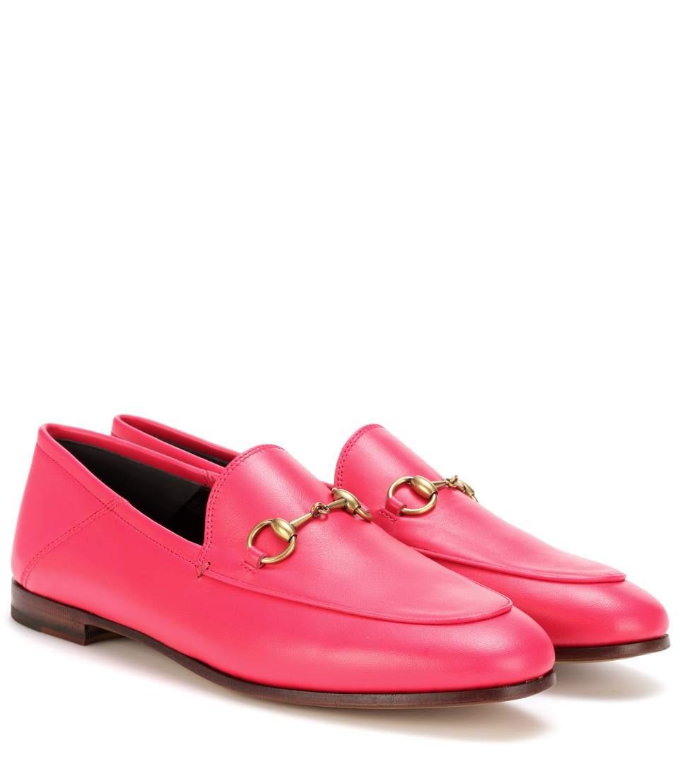 Fuchsia Pink Brixton Leather Loafers - Pink & Purple Gucci XcjvlMVzEJ