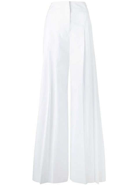 Alberta Ferretti Wide-Leg Trousers - White