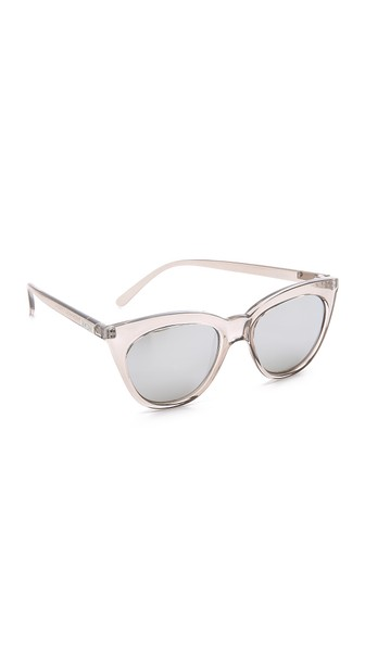 Halfmoon Magic 51Mm Cat Eye Sunglasses - Stone/ Silver Mirror