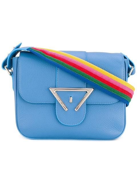 SARA BATTAGLIA Lucy Rainbow Strap Crossbody Bag in Blue