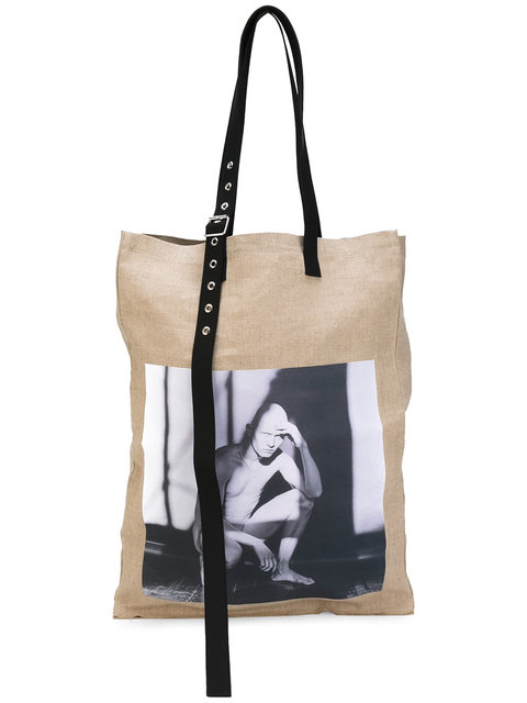 RAF SIMONS X Robert Mapplethorpe Photographic Tote Bag in Natural