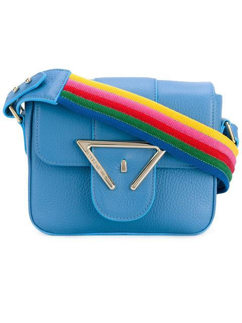 SARA BATTAGLIA Lucy Rainbow Strap Crossbody Bag in Azzurro