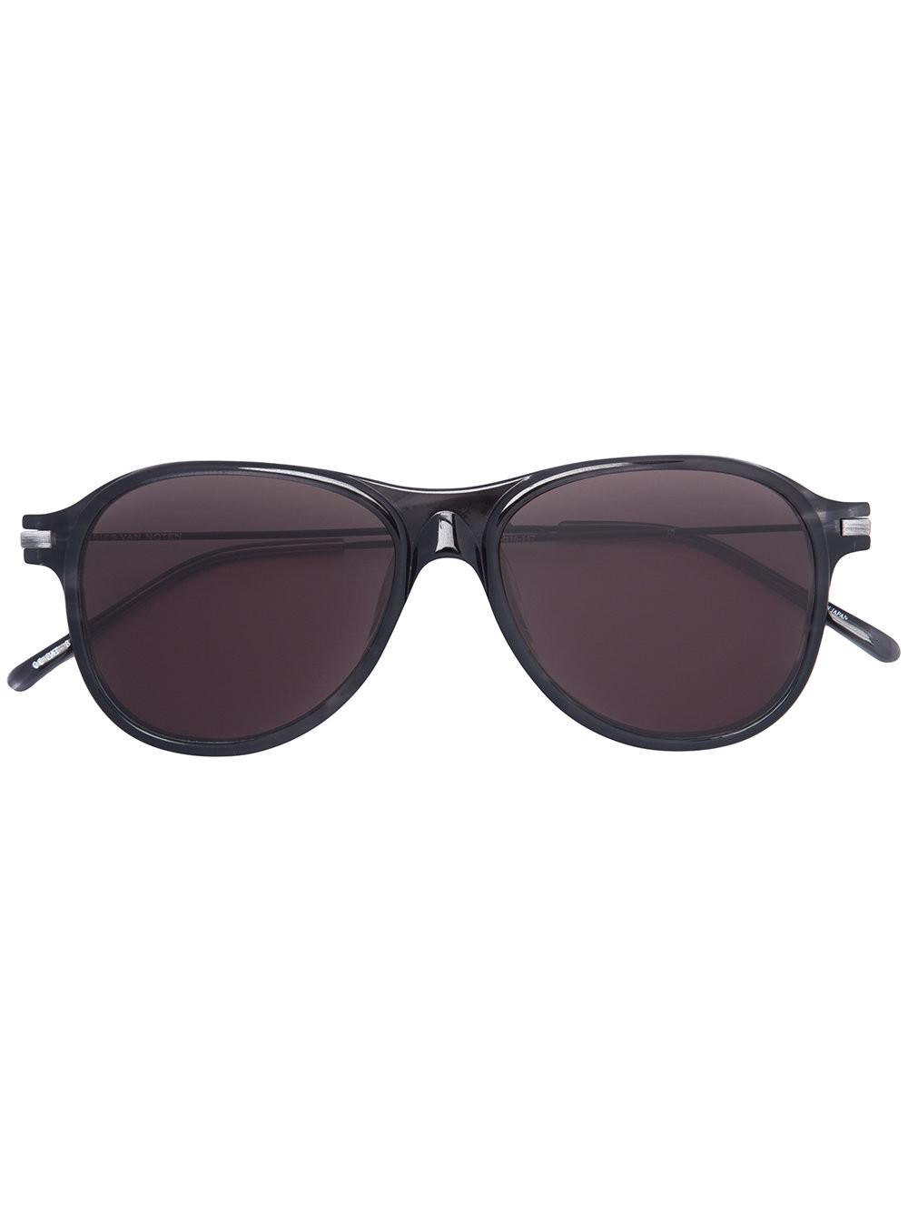Dries Van Noten X Linda Farrow Aviator Sunglasses, Black