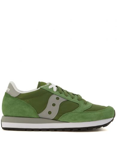 SAUCONY Sneaker  Jazz In Green Suede And Nylon in Verde
