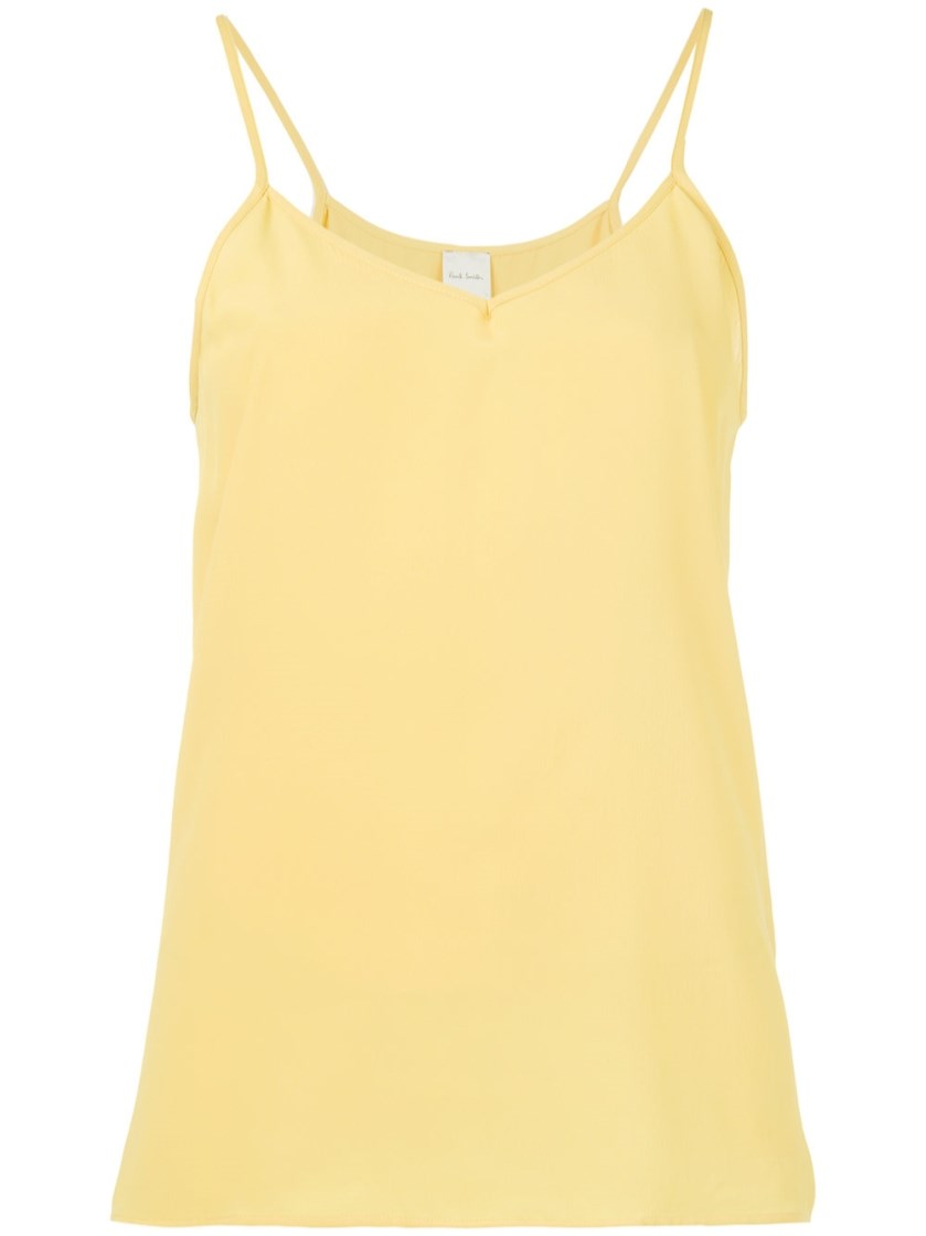 PAUL SMITH Yellow Crepe Camisole Top
