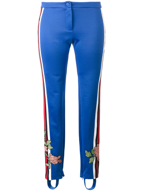 GUCCI Floral Embroidered Trousers