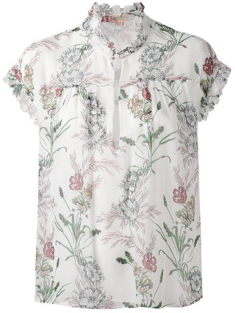 GIAMBATTISTA VALLI Floral Print Ruffled Blouse