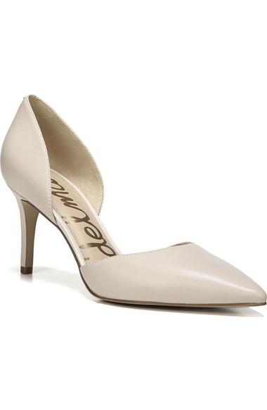 6fe0444c55c2c0 Sam Edelman  Telsa  D Orsay Pointy Toe Pump In Modern Ivory Nappa Leather