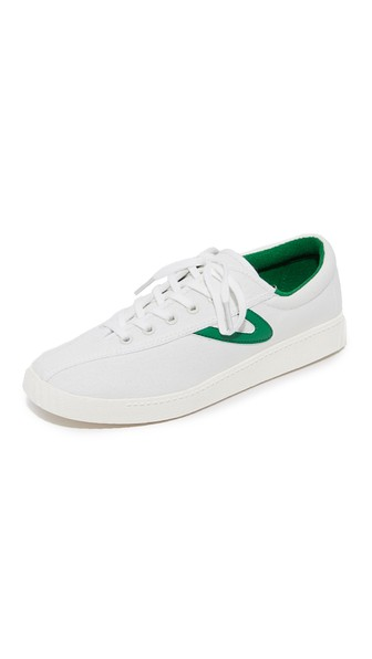 TRETORN Women'S Nylite Plus Lace Up Sneakers in Vintage White/Green