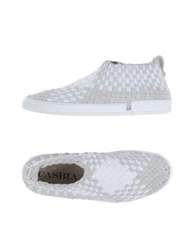 CASBIA Woven Slip-On Sneakers in White