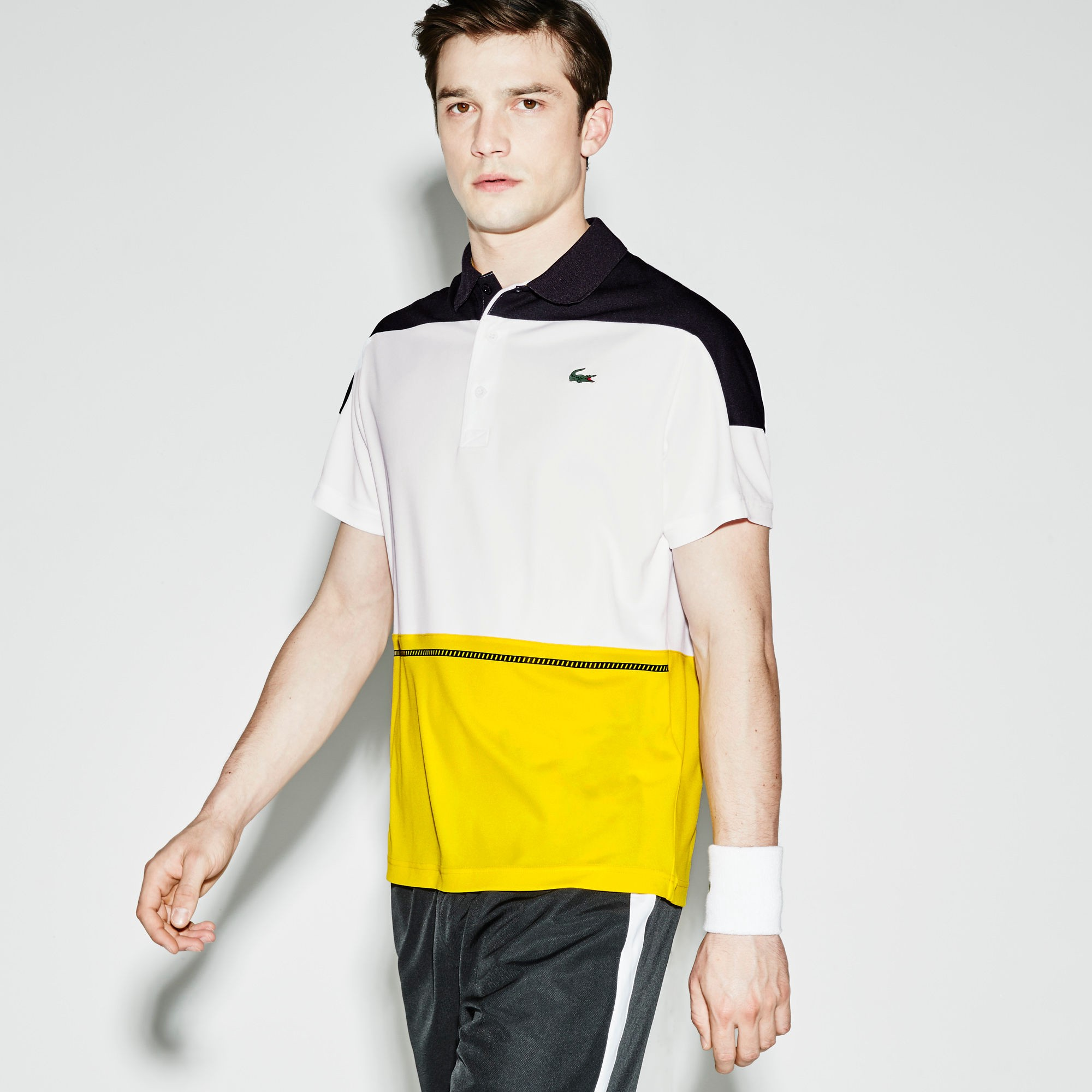 b3df99d4 Lacoste Sport Ultra Dry Blocked Polo T Shirt White