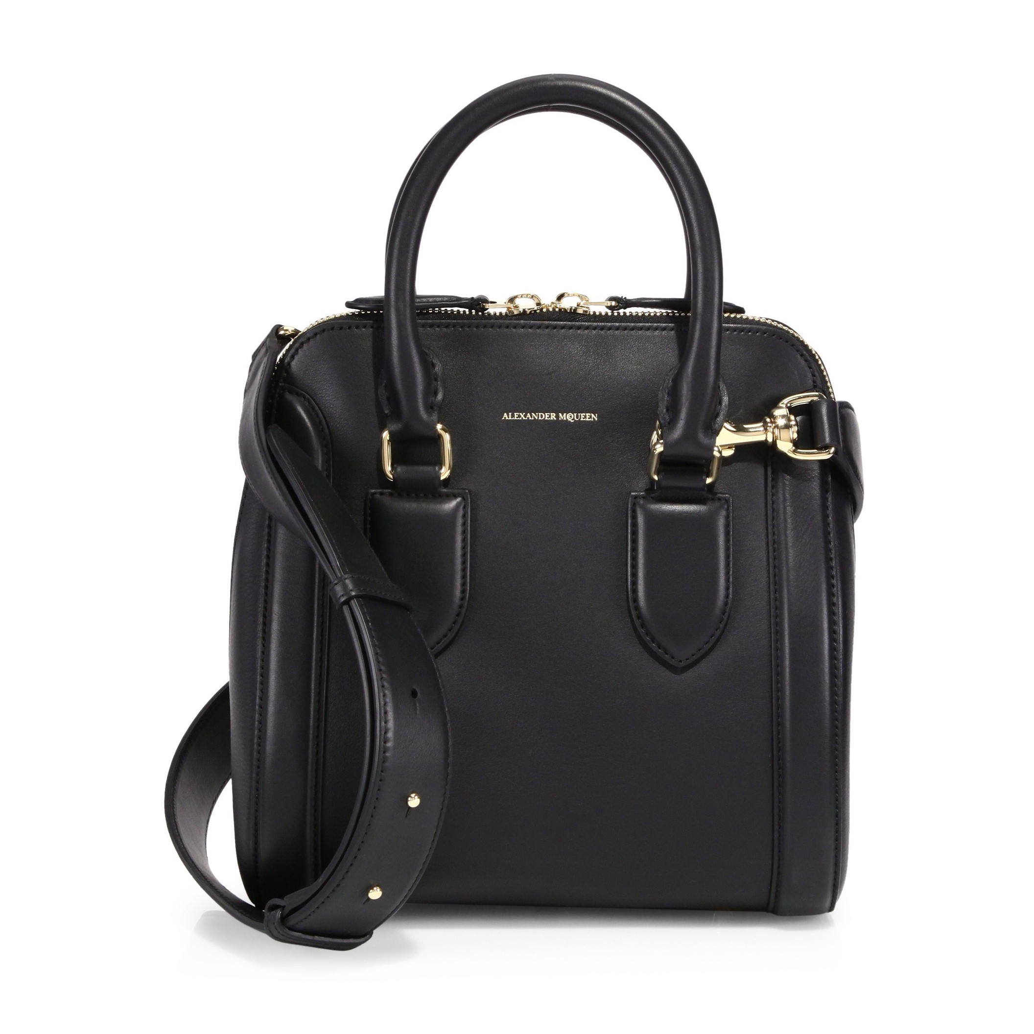 ALEXANDER MCQUEEN Heroine Medium Shoulder Bag in Black