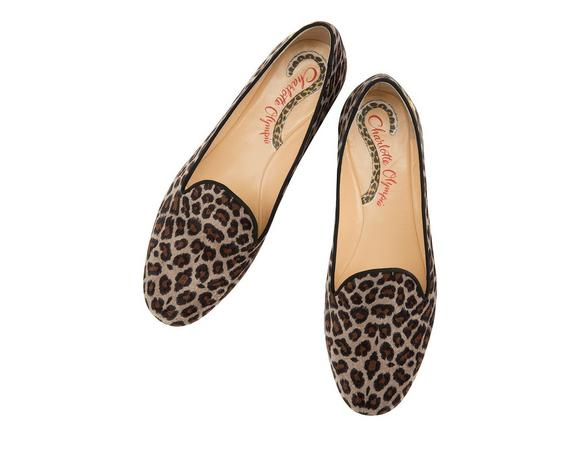 Nocturnal Embroidered Leopard-Print Velvet Slippers, Leopard Print from CHARLOTTE OLYMPIA