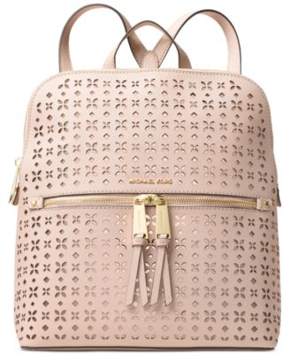 c0c85e51dfd83f ... usa michael kors michael rhea zip medium slim backpack in soft pink  70a8a 3c576