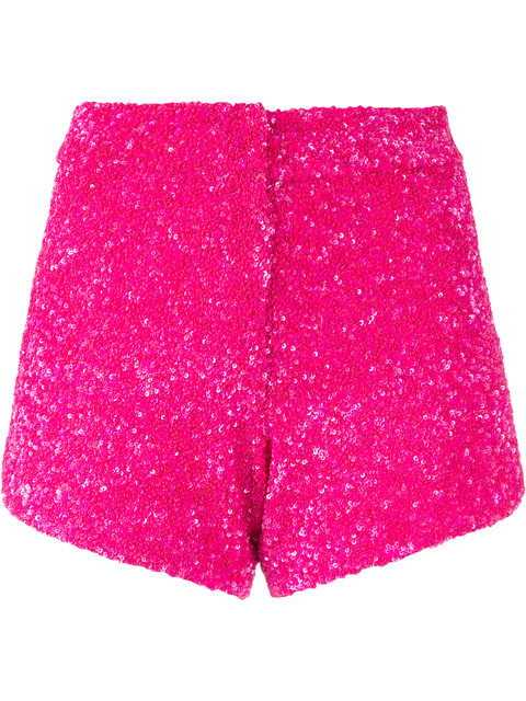 MANISH ARORA Sequinned Shorts in Pink