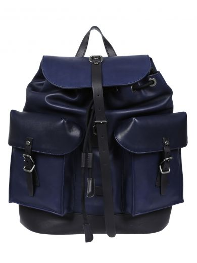SALVATORE FERRAGAMO Multi-Pocket Backpack in Blue Marine