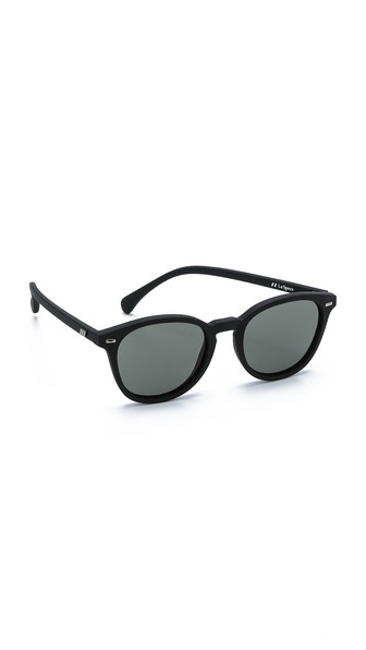 b1c7691494 Le Specs Bandwagon Sunglasses In Black Rubber Khaki Mono ...
