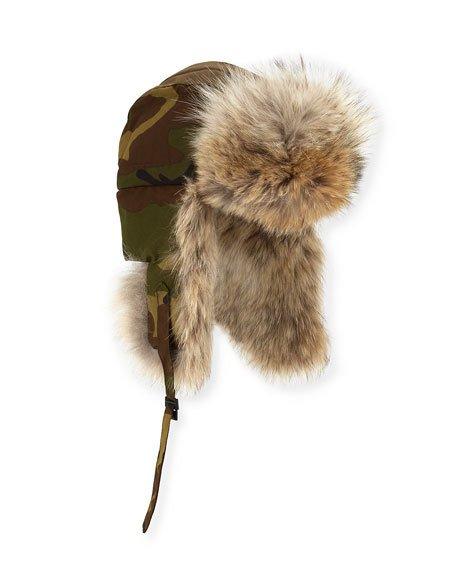 Canada Goose Coyote-Fur Aviator Hat 09f3bf5f1cd