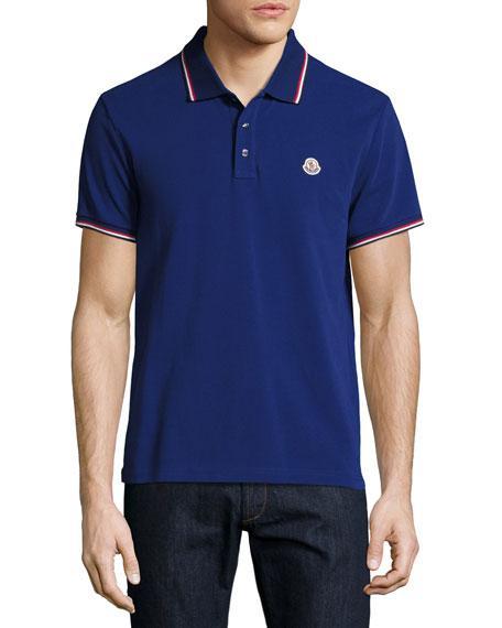 70647da94e04 Moncler Tipped Piqu Eacute  Polo Shirt In Black
