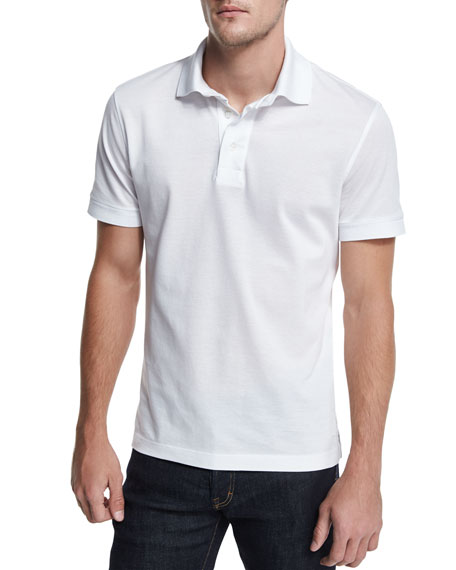 Knitted Cotton-blend Polo Shirt - GrayTom Ford 100% Authentique Vente En Ligne Footlocker Images La Vente En Ligne Vente Pas Cher Combien nSjUX