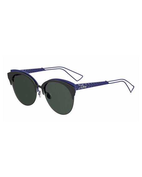 Ama Club Metal Sunglasses, Blue