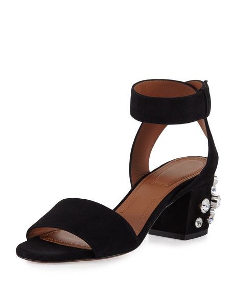 GIVENCHY Paris Stud-Heel City Sandal, Black