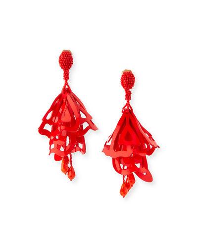 Oscar De La Renta Floral earrings 8B1Jddmk