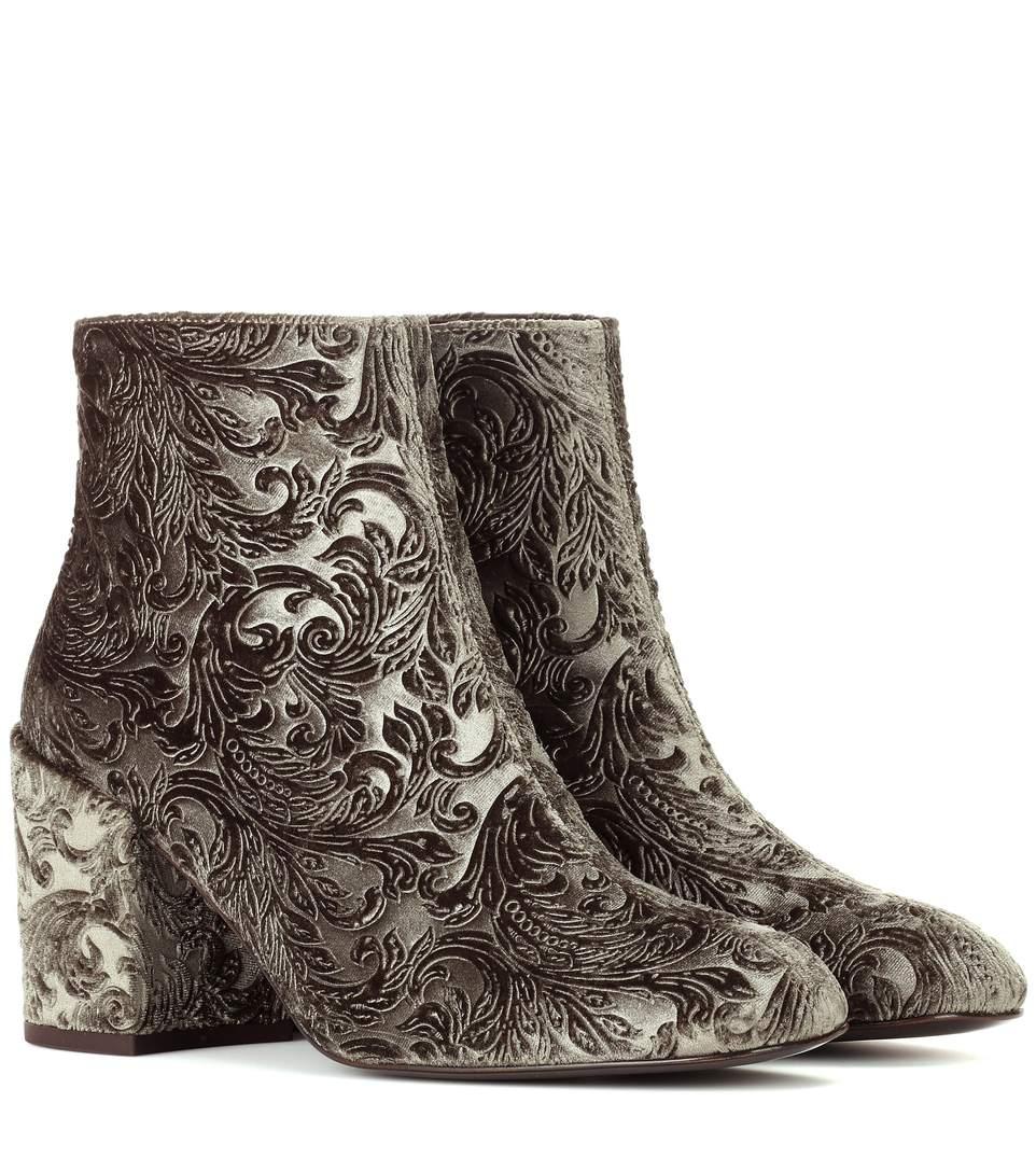 Stuart Weitzman Mona devoré ankle boots 6Sox1
