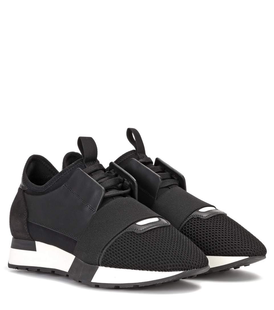Black Glitter Race Runner Sneakers