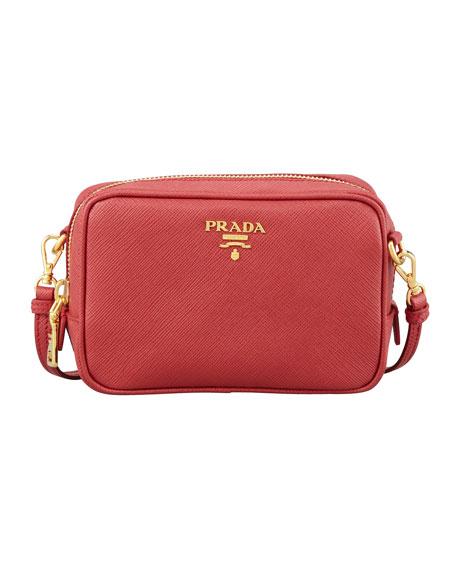 0902373a8069 ... cheap prada small saffiano camera crossbody bag red fuoco c5883 0e2ee