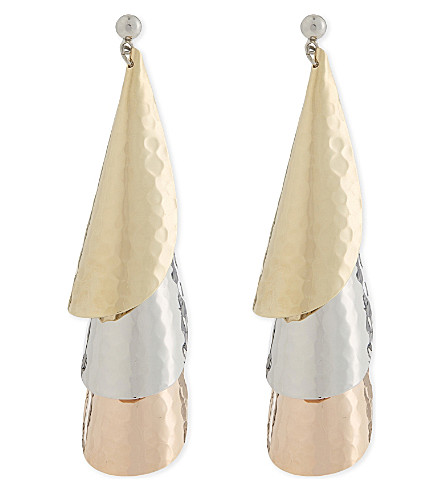 J.W.Anderson Hammered Gold-Plated, Silver-Tone And Rose Gold-Tone Earrings, Additional Details Will Be Added When The Item Arrives In Stock