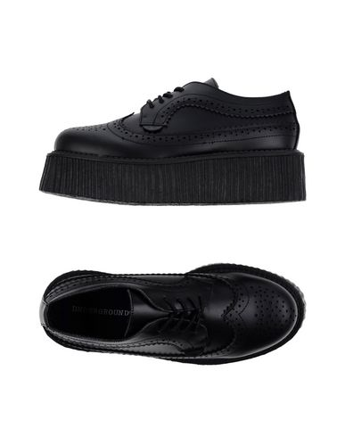 UNDERGROUND Laced Shoes in Black