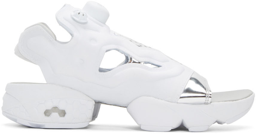 Instapump Fury Sneakers With Leather, White