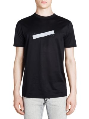 Slim-Fit Reflective-Trimmed Mercerised Cotton-Jersey T-Shirt in Black