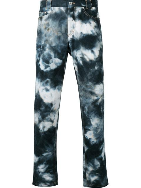 CASELY-HAYFORD Casely-Hayford Bleached Slim-Fit Jeans - Blue