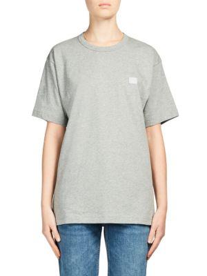 Nash Face Appliquéd Cotton-Jersey T-Shirt, Grey