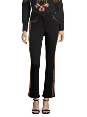 embroidered flared trousers - Black Etro K4TrMczL