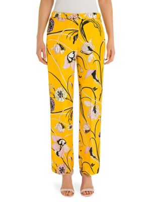 printed straight trousers - Yellow & Orange Emilio Pucci