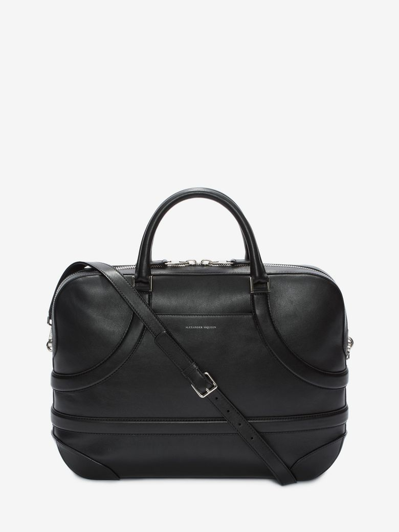 Calf Leather Harness Briefcase in Black