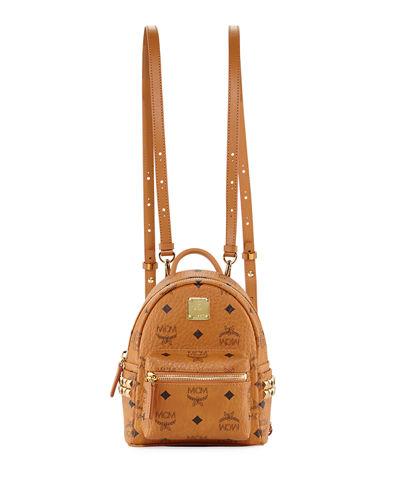 MCM 'X-Mini Stark Side Stud' Convertible Backpack - Brown