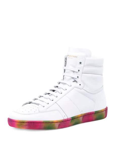 Signature Court Classic SL/10H sneakers - White Saint Laurent OhrKK2IFqc
