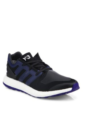 Y-3 Men'S Pureboost Low Sneakers In Black in Nero