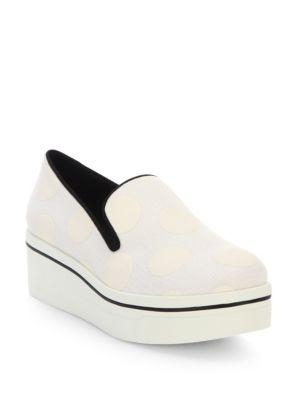 STELLA MCCARTNEY Binx Polka Dot Platform Loafers, Ivory