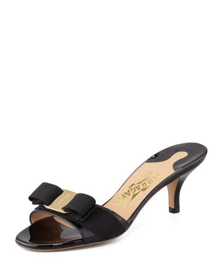 Salvatore Ferragamo Peep-Toe Slide Sandals Sale Fake Extremely Popular Sale Online jVXTKwC25q